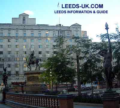 Leeds City Square and Queens hotel