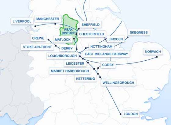 East Midlands Trains Route Map East Midlands Trains, Route map, List of Stations, UK. East Midlands Trains Route Map
