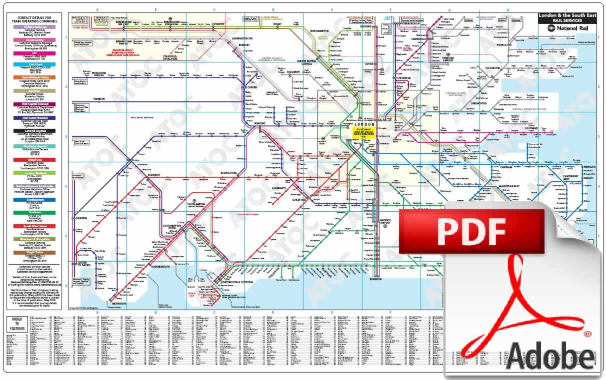 London South East Rail Map.Click Screen To Close